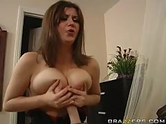 Two Faced Wife Slut Sara Stone Fucking a Big Dick