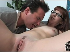 Nasty Trinity Post gets her cuckold to clean her up