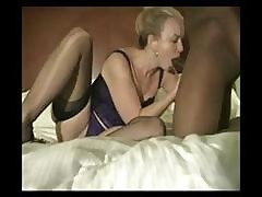 Blonde Eats His Black Cock And Then Gets On For A Ride In First Film