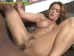 Busty Redhead Wife Is Cuckolding Her Husband With This Black Dude