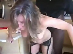 Slut Wife gets dominated and fuked rough by 2 BBC