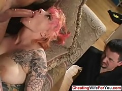 Kinky wife fucked infront of husband