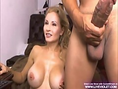 Busty blonde cuckold's dream plays