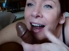 White Cashier Sucking Black CocK