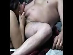 Wife Blows Guy For Hubby