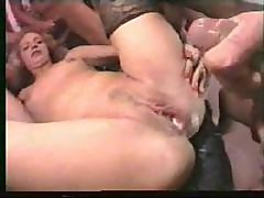 Blonde Bride Gets A Gangbang On Her Honeymoon And Gets A Creampie