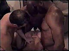 A sexy gang bang and clean up