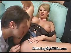 Cuckold Hubby Brings In A New Cock To Watch Fuck His Wife