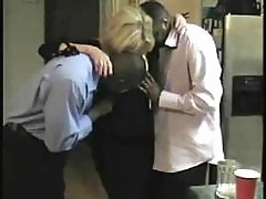 Black guys nail a mature blonde wife