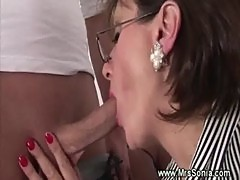 Cuckold watches wife suck