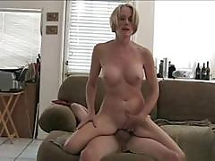 Mature Blonde Amateur Melanie Slur[s On Hubby's Cock And Gets Nailed