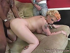 Sexy Candy Monroe gets plowed up her piss flaps