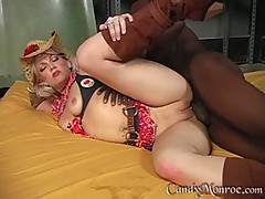 Candy Monroe hot cowgirl sleeping with a black guy