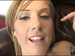 Tricia Oaks let a hot dude drop cum on her face