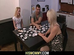 He leaves and horny mom seduces his GF