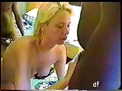 Blonde Wife On Vacation Gets A Coupe Of Black Cocks To Bang